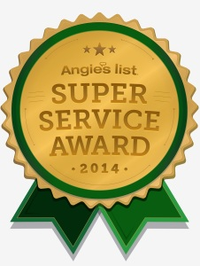 Angie's list super service award logo 2014 BumbleJunk junk removal Baltimore